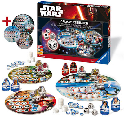 TOYS : JUGUETES - STAR WARS 7  Galaxy Rebellion : El duelo de dados | Juego de Mesa  El Despertar de la Fuerza - The Force Awakens  Producto Oficial Película Disney 2015 | Ravensburger 26665  Edad: +8 | Jugadores: 2-4 | Comprar en Amazon España