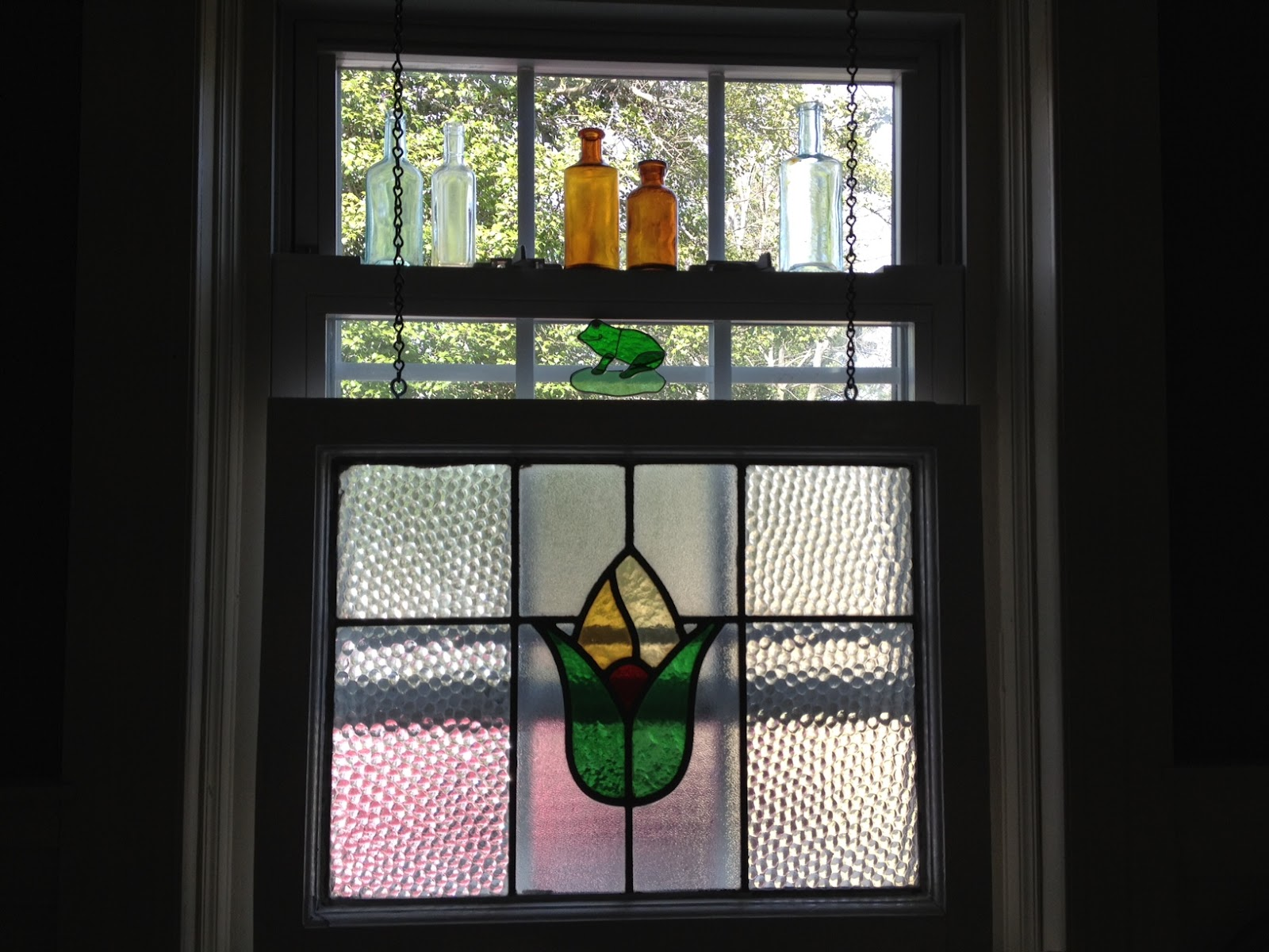 Tales from a sears house windows on the world for Stained glass kitchen windows