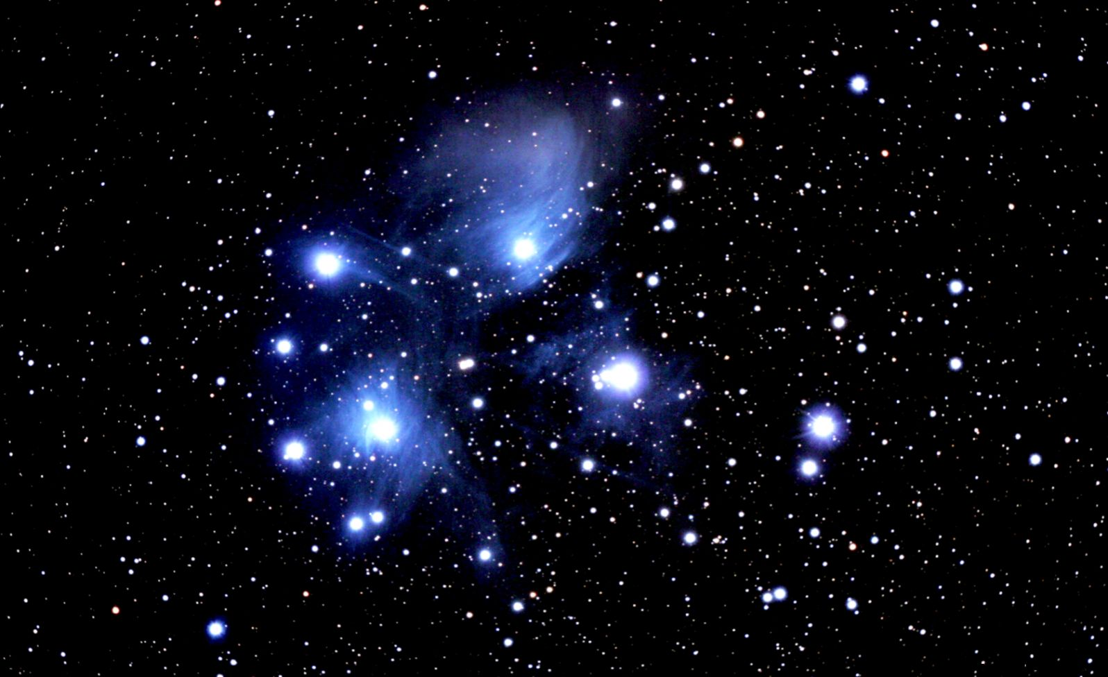 M45 Pleiades Star Cluster large