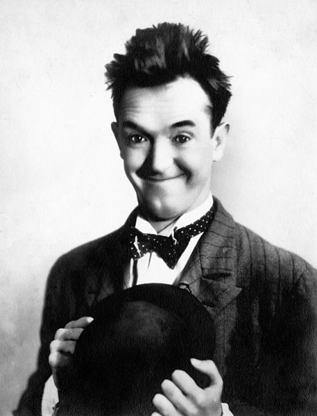 A portrait of Stan Laurel