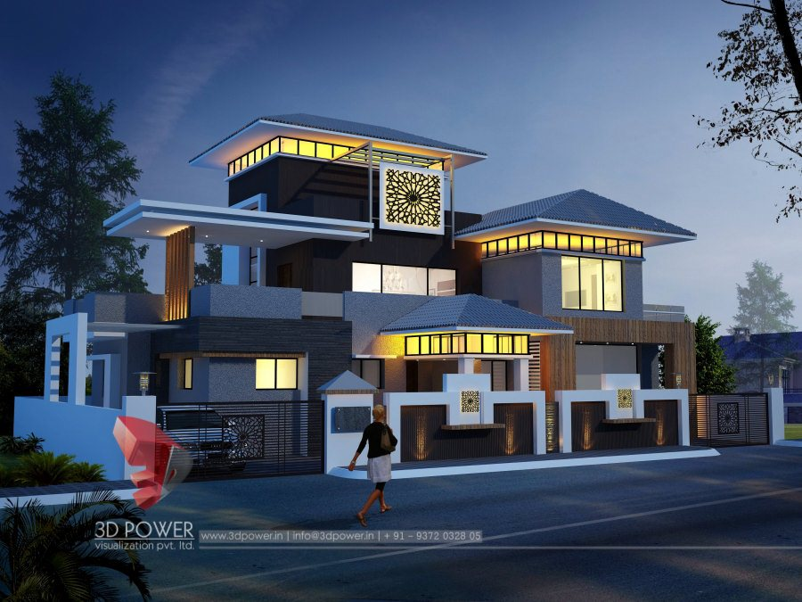 Ultra modern home designs home designs 3d exterior home for Outside bungalow house design