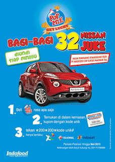 Kupon Undian POP Mie Palsu Nissan Juke