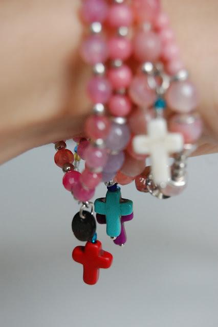 Pink Ibiza dangling charms