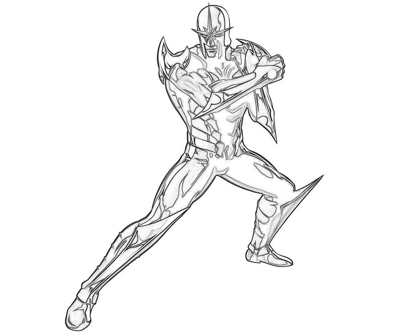 marvel-vs-capcom-nova-coloring-pages