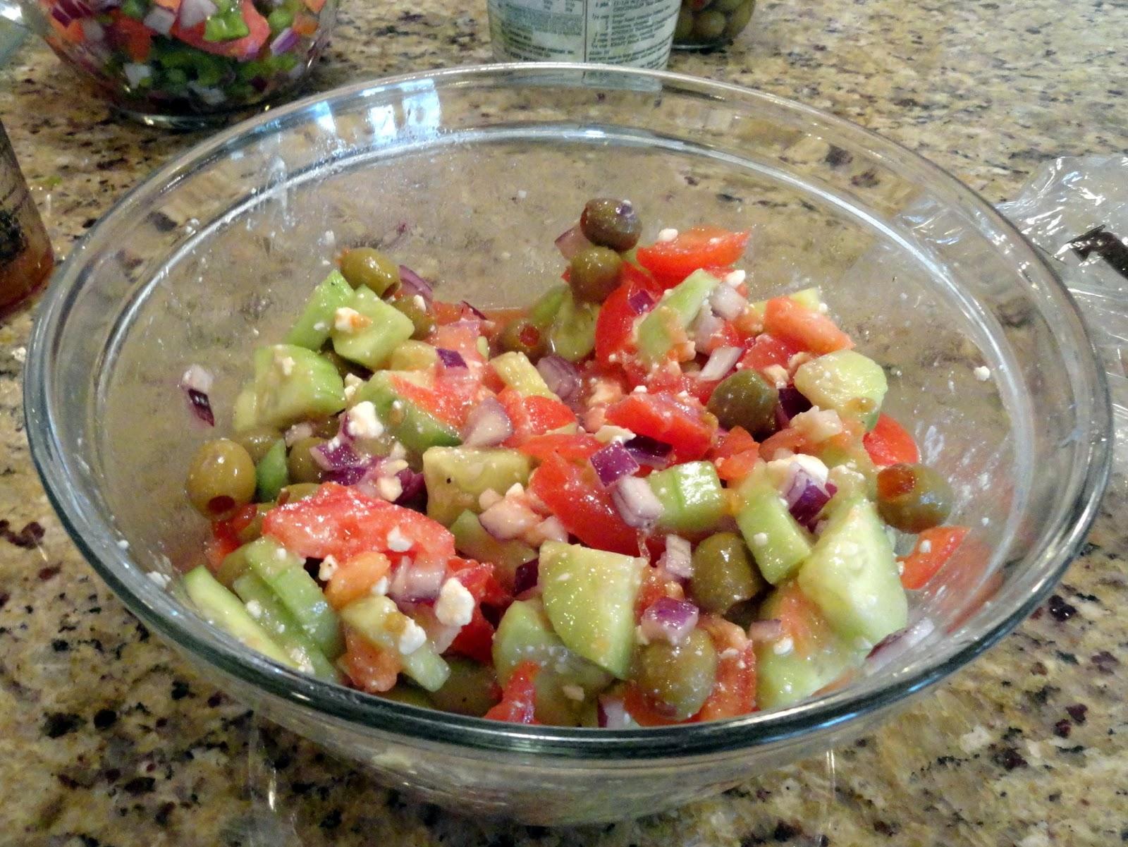 Cucumber Feta salad - Rachel Teodoro