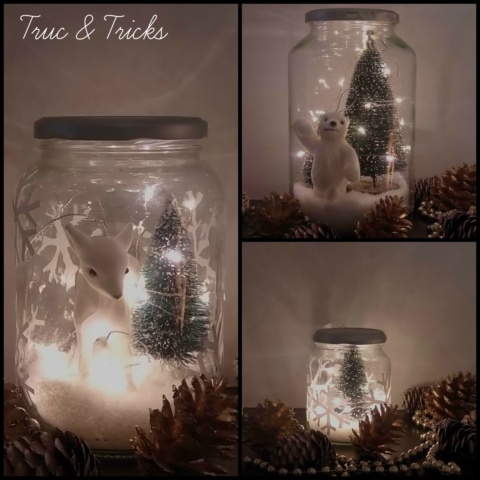 D co de no l diy no l en bocal truc tricks for Photo de decoration de noel