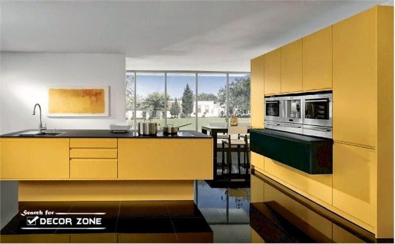 Yellow Kitchen Cabinets Designs