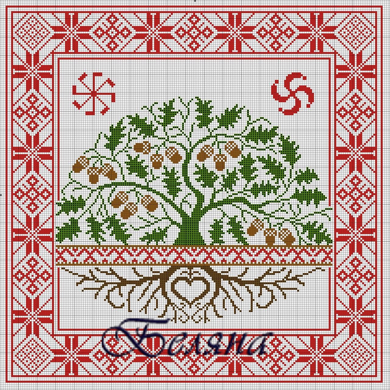 Вышивка обереги славян схемы