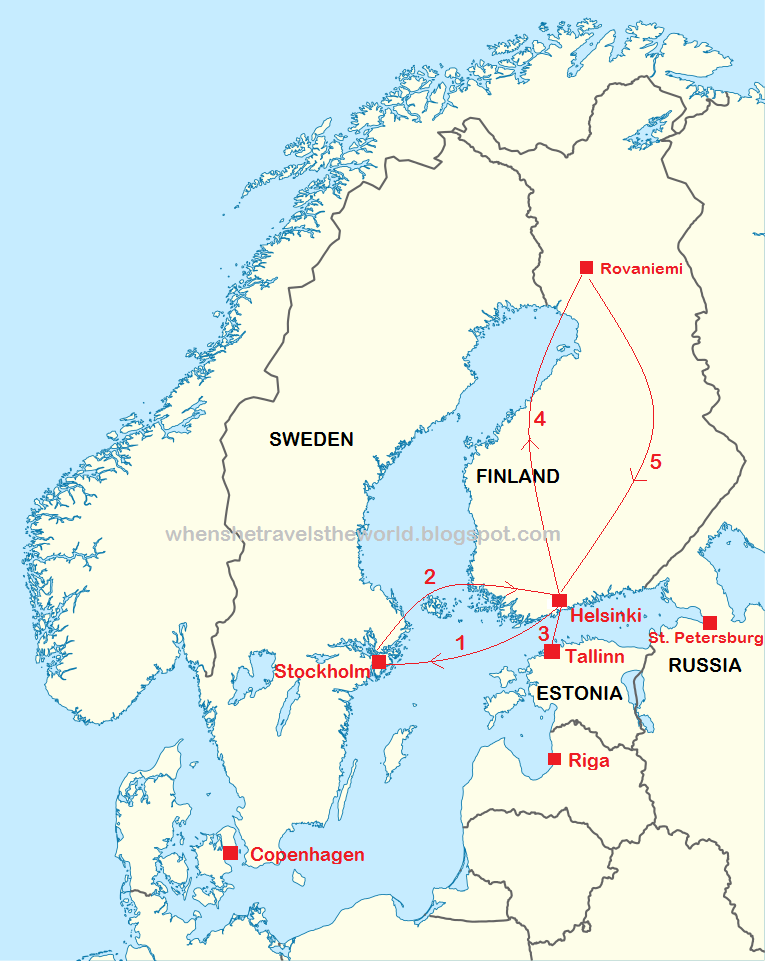 Catch The Aurora DN Finnish Lapland Itinerary When She - Sweden lapland map