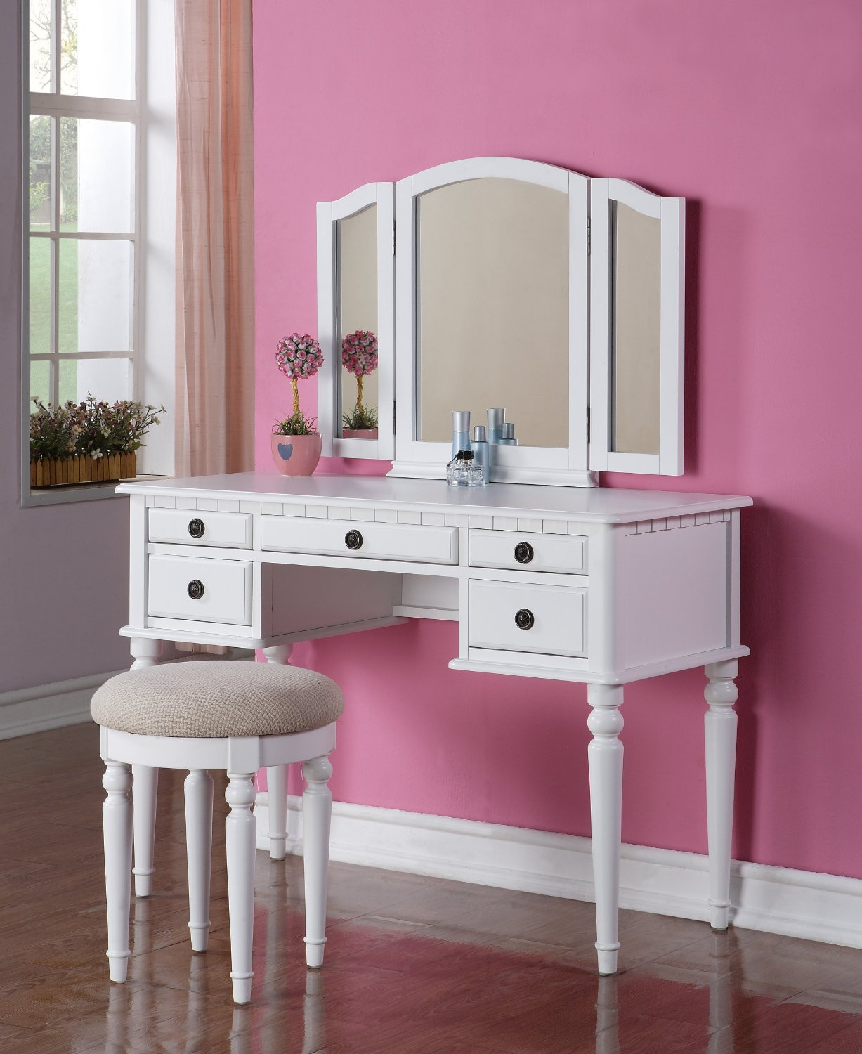 sitting pretty affordable vanity table sets with mirror