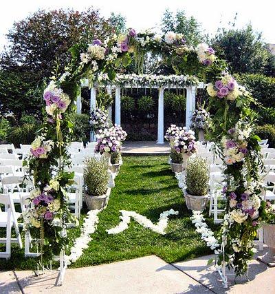 Decoracion de bodas for Arreglo de boda en jardin