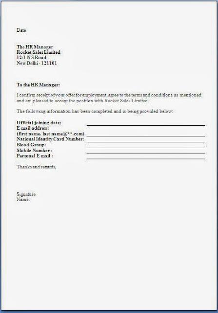 3 job offer acceptance letter reply resumed