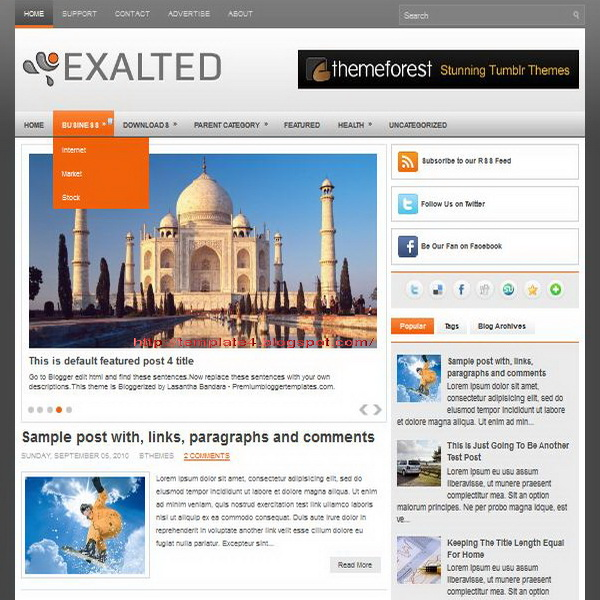 Exalted Blogger Template