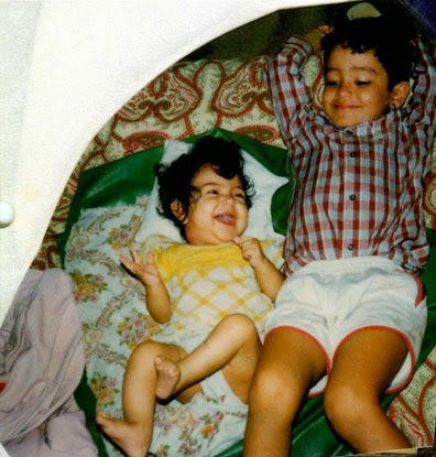Anushka Sharma Childhood pictures with Brother