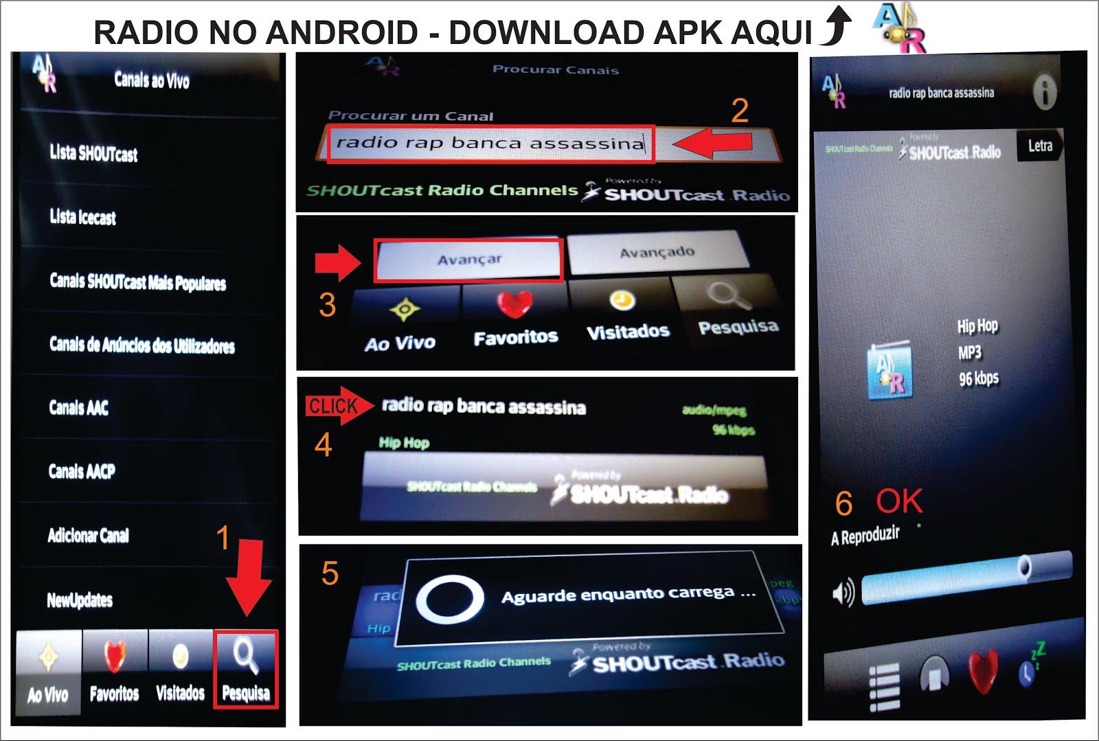 OUÇA A RADIO NO CELULAR COM ANDROID