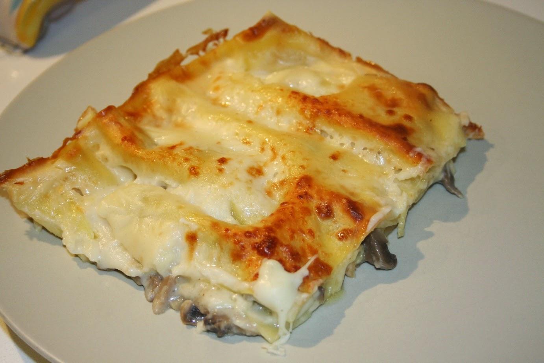 lasagne ai funghi e formaggi