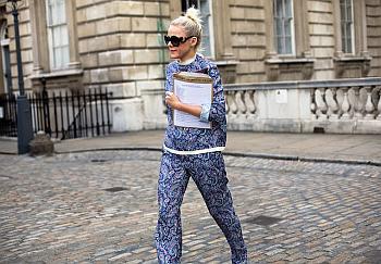 pidżama, ulica, moda