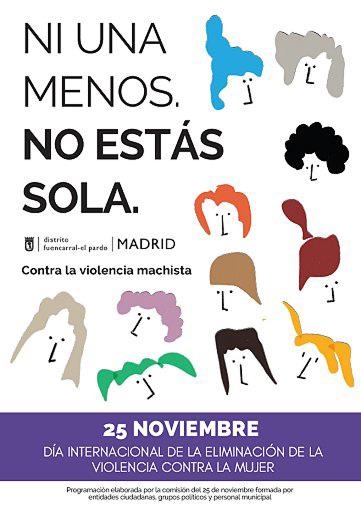 25 Noviembre No a la violencia machista