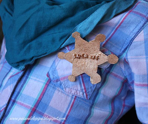 pasandolopipa | estrella de shérif hecha de cartulina