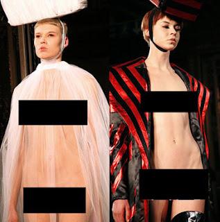 Tampilkan Model Telanjang Desainer Inggris di London Fashion Week