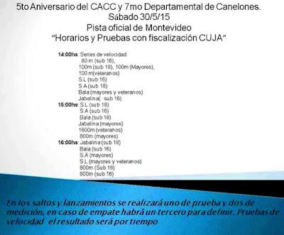 Pista - 5º Aniversario CACC y Departamental de Canelones (Montevideo, 30/may/2015)