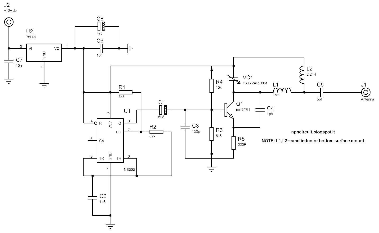 Circuito Jammer : Npn circuit progetti elettronici informatica gsm