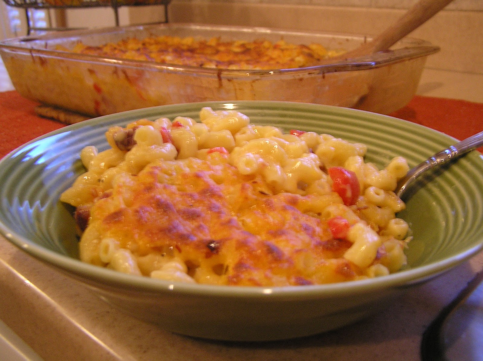 37 Cooks: Spicy Tasso Mac N Cheese with Roasted Red Peppers