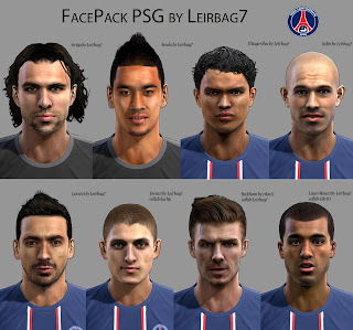 Facepack PSG PES 2013 by Leirbag7