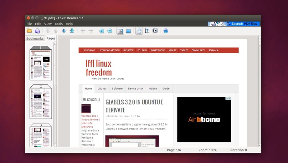 Foxit Reader in Ubuntu