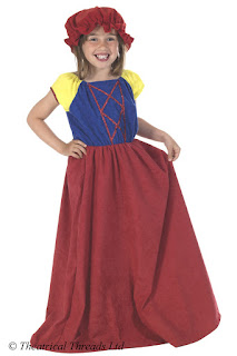 Snow White Dress Kids Costume from Theatrical Threads Ltd