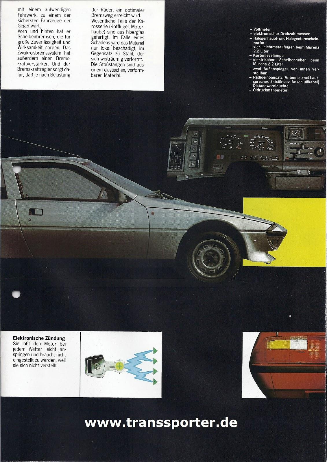 Talbot Matra Murena Das Prospekt Von 1981 This Picture Is The Diagram Shown In Service Manual For Eingestellt Transsporter Um 0939