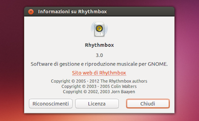 Rhythmbox 3.0 in Ubuntu