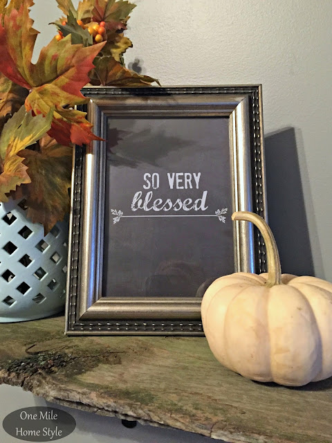 So Very Blessed 5x7 Printable - One Mile Home Style