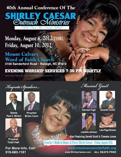 Shirley Caesar 40th Annual Conference 2012