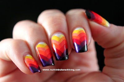 Rainbow Fishtail Manicure