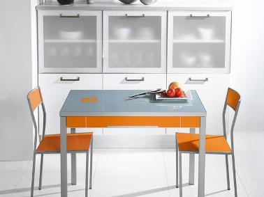 Decoratelacasa blog de decoraci n distintas formas de for Mesas para cocinas pequenas