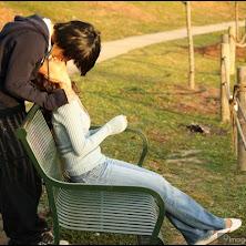 kiss, couple, love, cute
