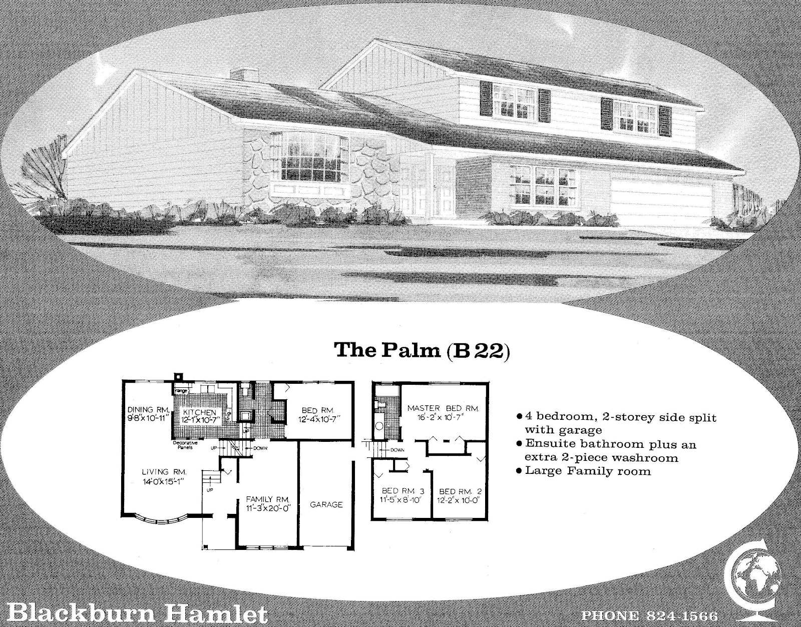 Mid century modern and 1970s era ottawa favourite plans blackburn this plan has a uniquely located family room facing the front which does allow for a bedroom on the ground level behind the garage which is where the malvernweather Images