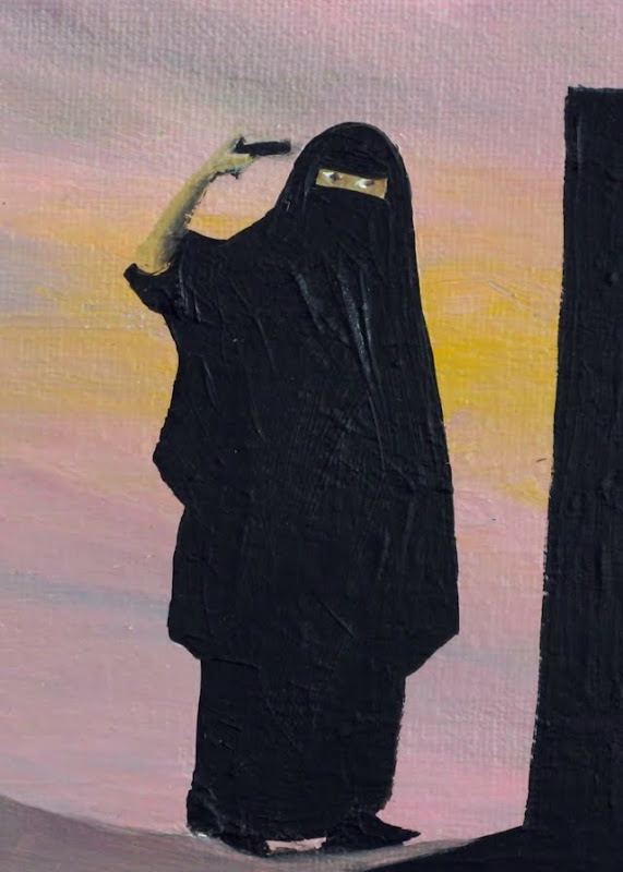 Burka Woman makes her point