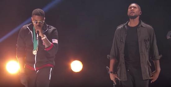 """Novo clipe """"Chains"""" do Usher tem participação do Nas e Bibi Bourelly"""