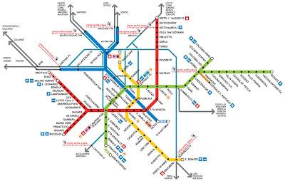 Milan Metro Map Pictures 1