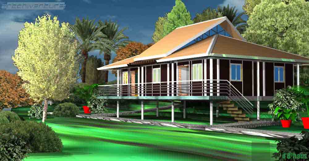 Pakar erst revealed 39 eco tropic 39 building design my for Tropical home plans