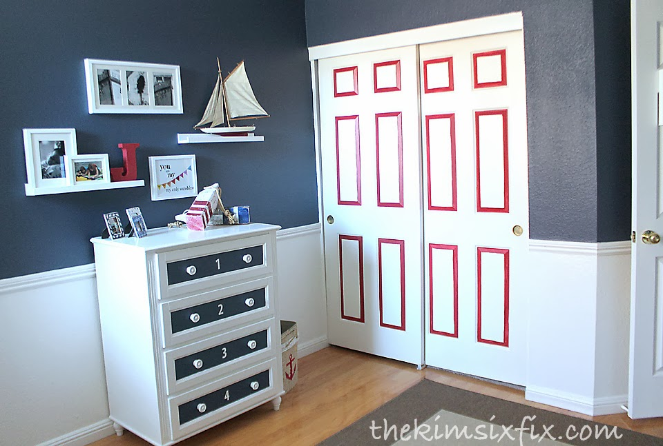 Nautical Bedroom baby's nautical bedroom reveal! - the kim six fix