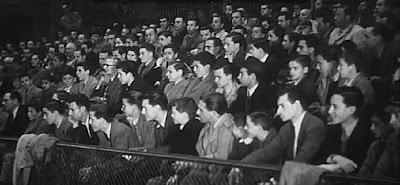Tribuna de espectadores en el II Encuentro Ibérico de Ajedrez 1946