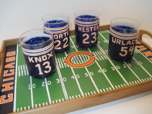 Beras Football Serving Tray And Painted Glasses