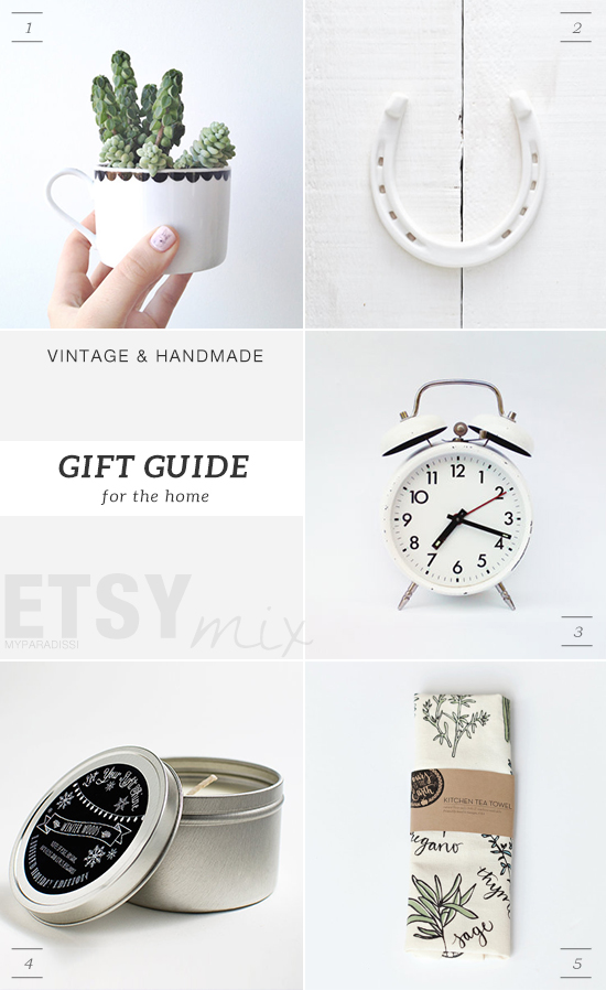 Vintage and handmade holidays gift guide from Etsy for the home by My Paradissi