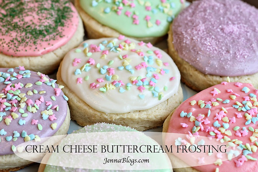 Jenna Blogs: Cream Cheese Buttercream Frosting