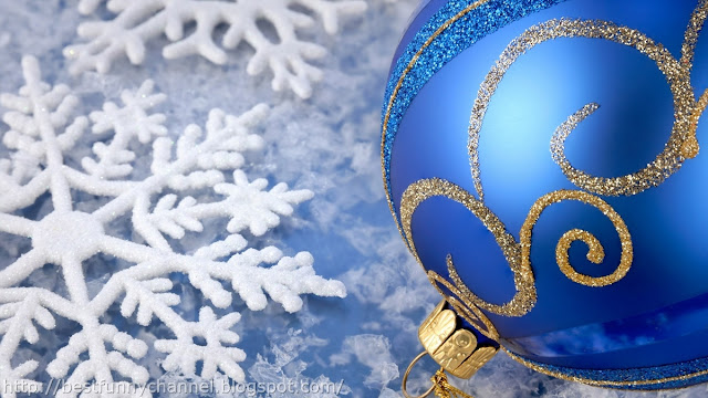 Blue Christmas ball.