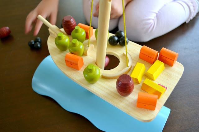 Hape stormy seas balance game, hape pirate ship, wood balance game, educational pirate game, pirate ship toy, hape educational toys, pirate party decor