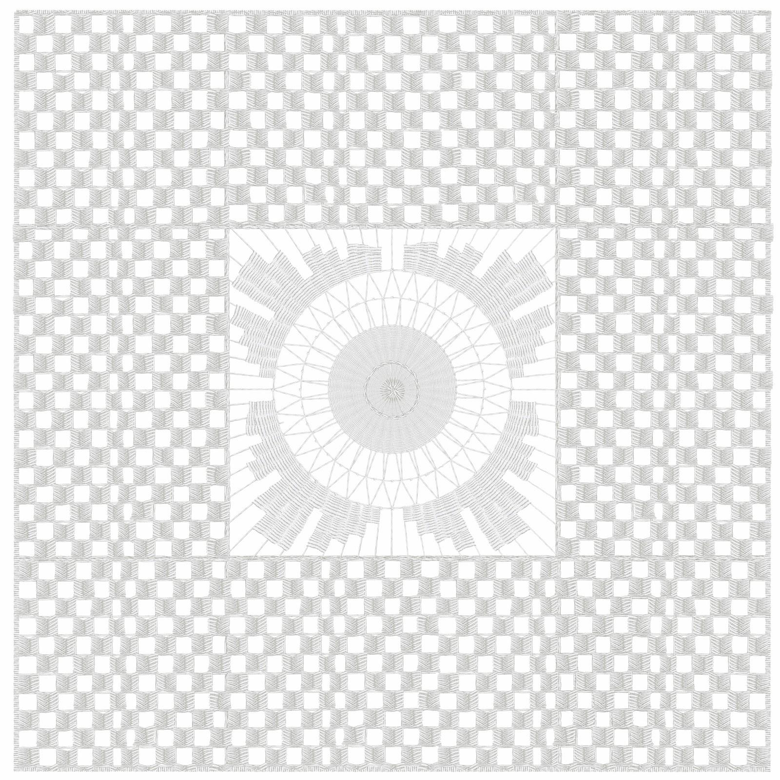 hilorama 1,  Congo, geometrias, hilo, dibujo